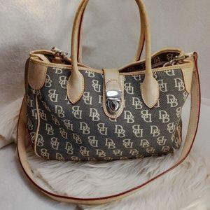 Authentic gray Dooney & Bourke purse handbag